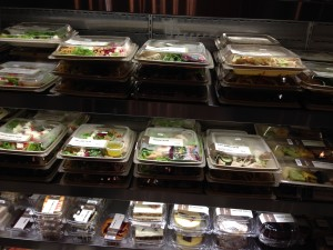 Salads ready to be delivered to guest rooms at the New York Hilton Midtown. Photo by Barb DeLollis.