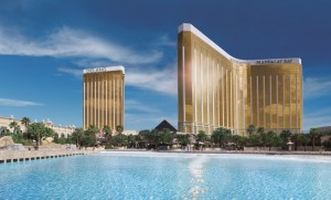 Delano Las Vegas, an MGM property where Hyatt loyalty members can earn and burn points.