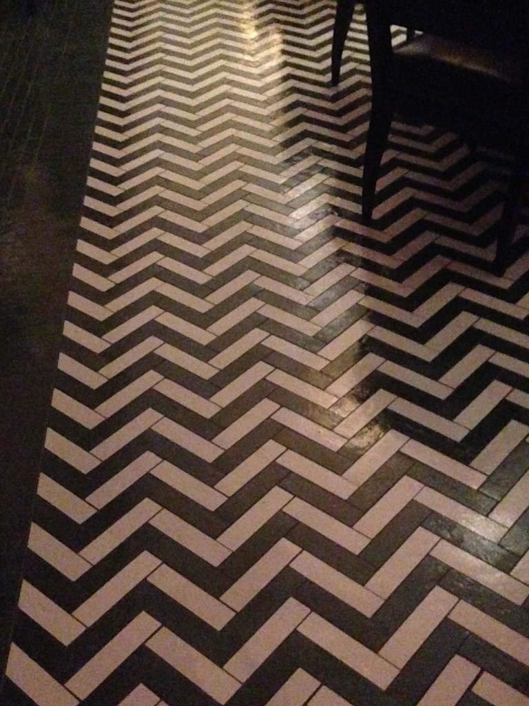 The floor at Cleo. Travel Update photo by Barb DeLollis.