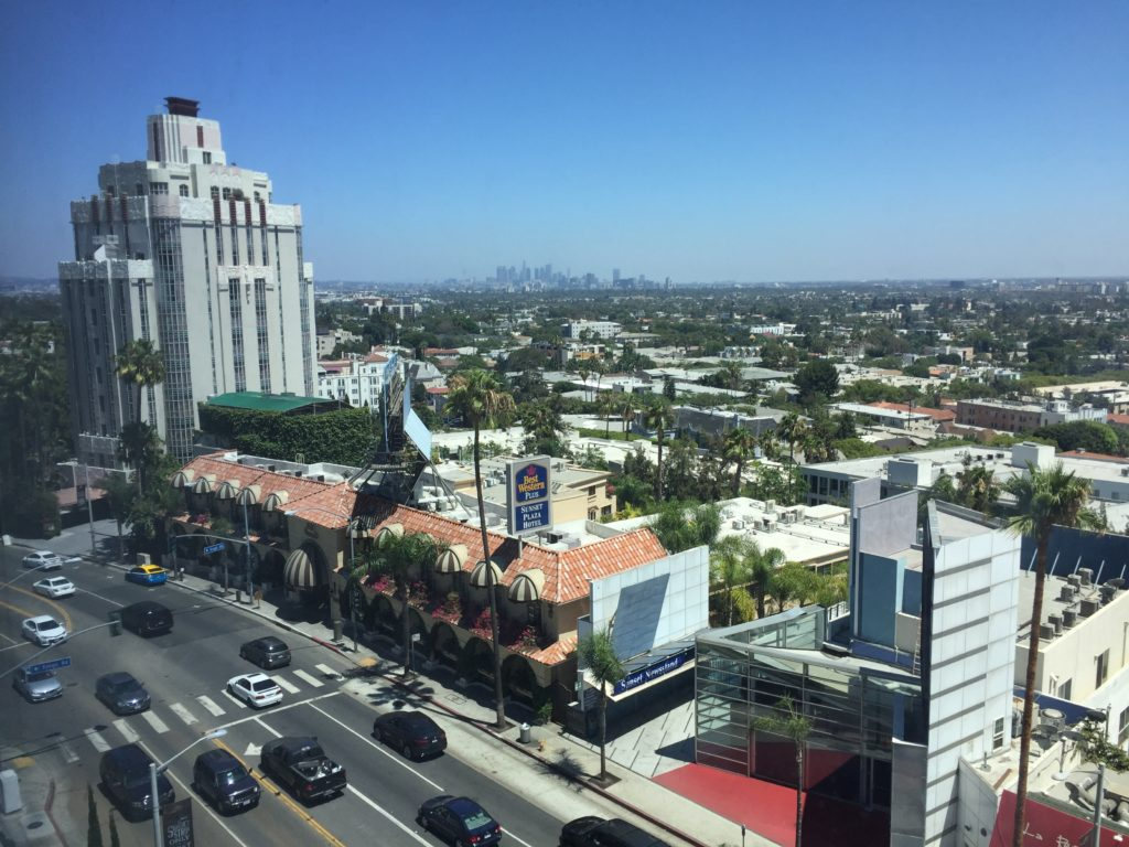 View from sun room - LA downtown in the background