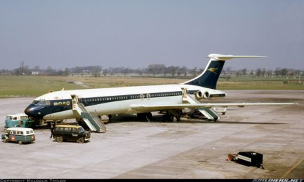 History: To USA in 1965 by BOAC Vickers Super VC10