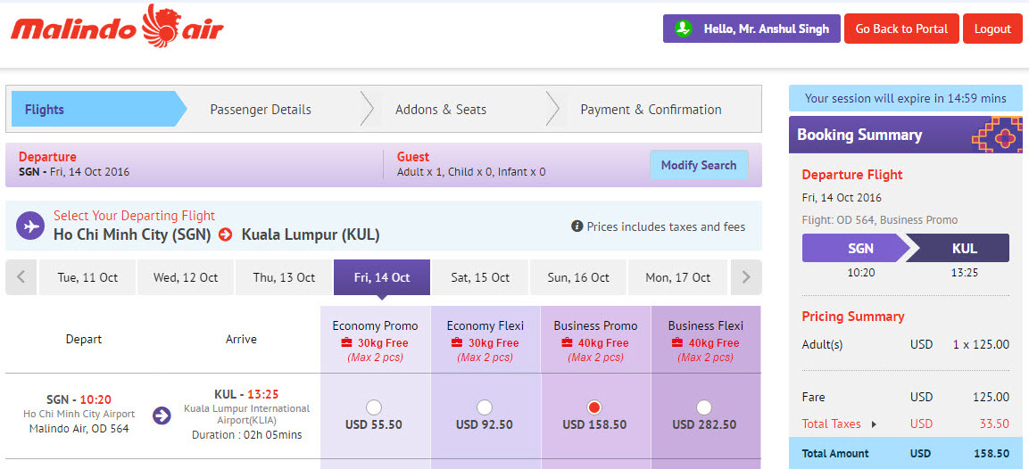 Flight Review: Malindo Air Business Class from SGN - KUL - TravelUpdate