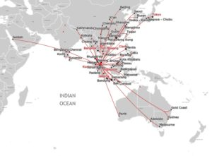 Air Asia & Air Asia X Route Map