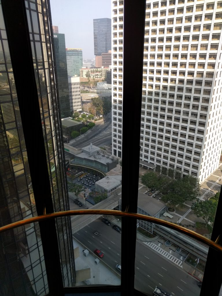 Elevators at the Westin Bonaventure are tough for people afraid of heights (like me).
