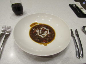 GVK First Class Lounge Soup
