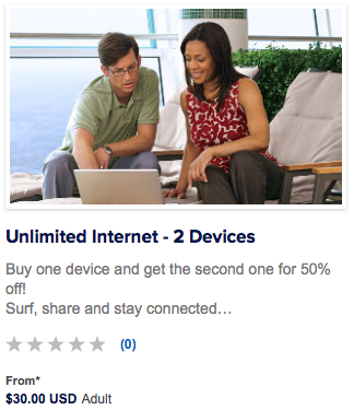 Unlimited Internet Packages From Royal Caribbean