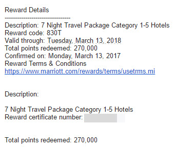 Marriott travel packages