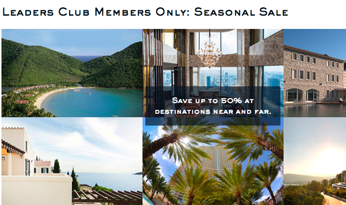 Leading Hotels of the World 50% Off Members Sale