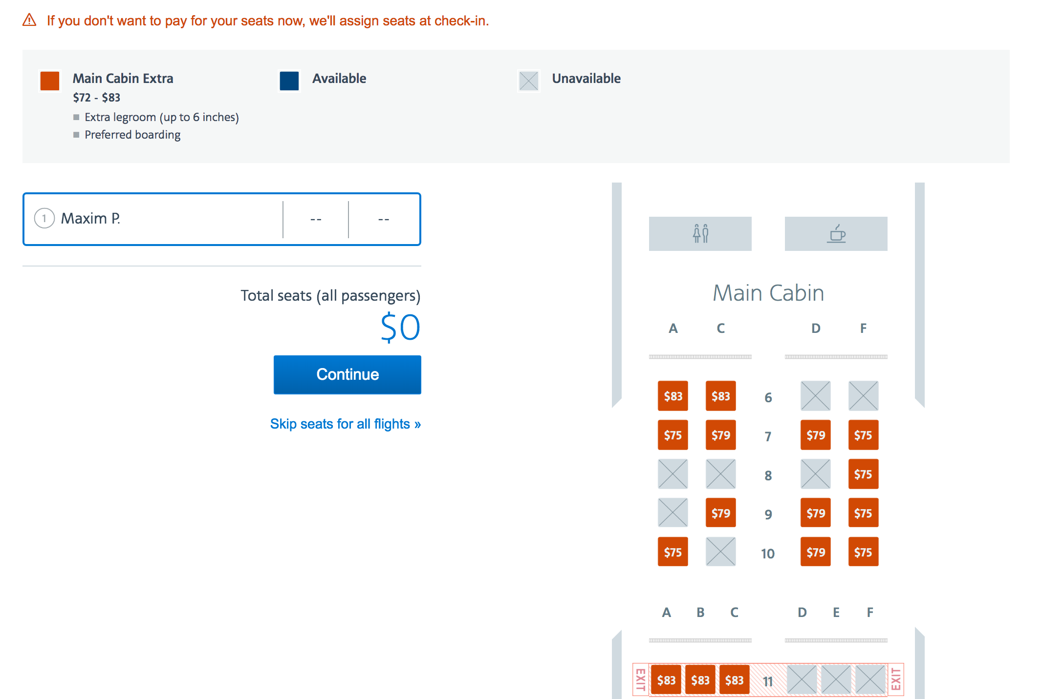 Business Class is Being Sold as Main Cabin Extra
