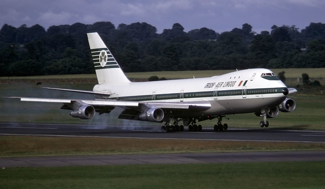 What was an Aer Lingus 747 to New York like in 1975?