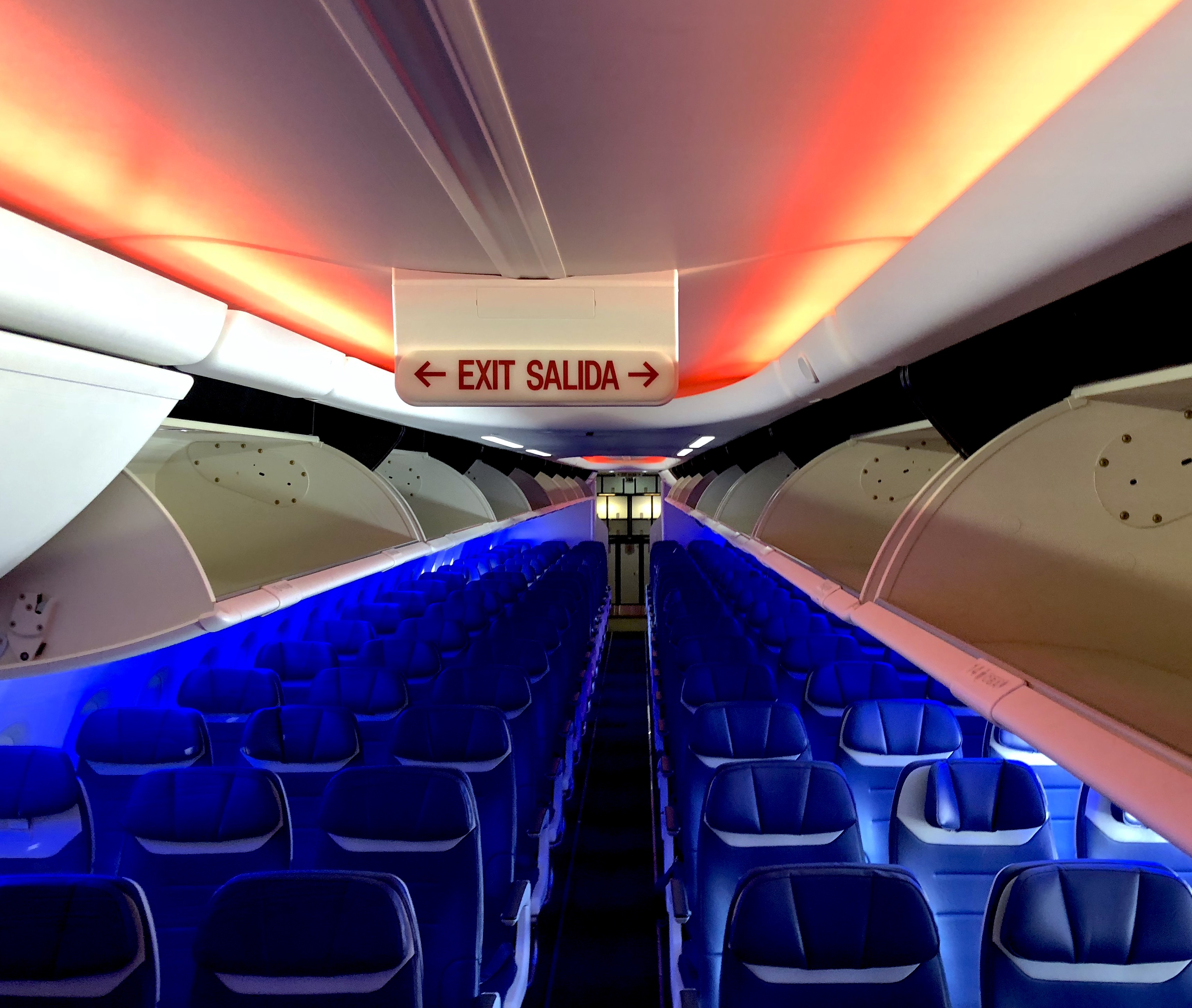 Southwest Airlines Boeing 737 MAX 8 Cabin at Boarding