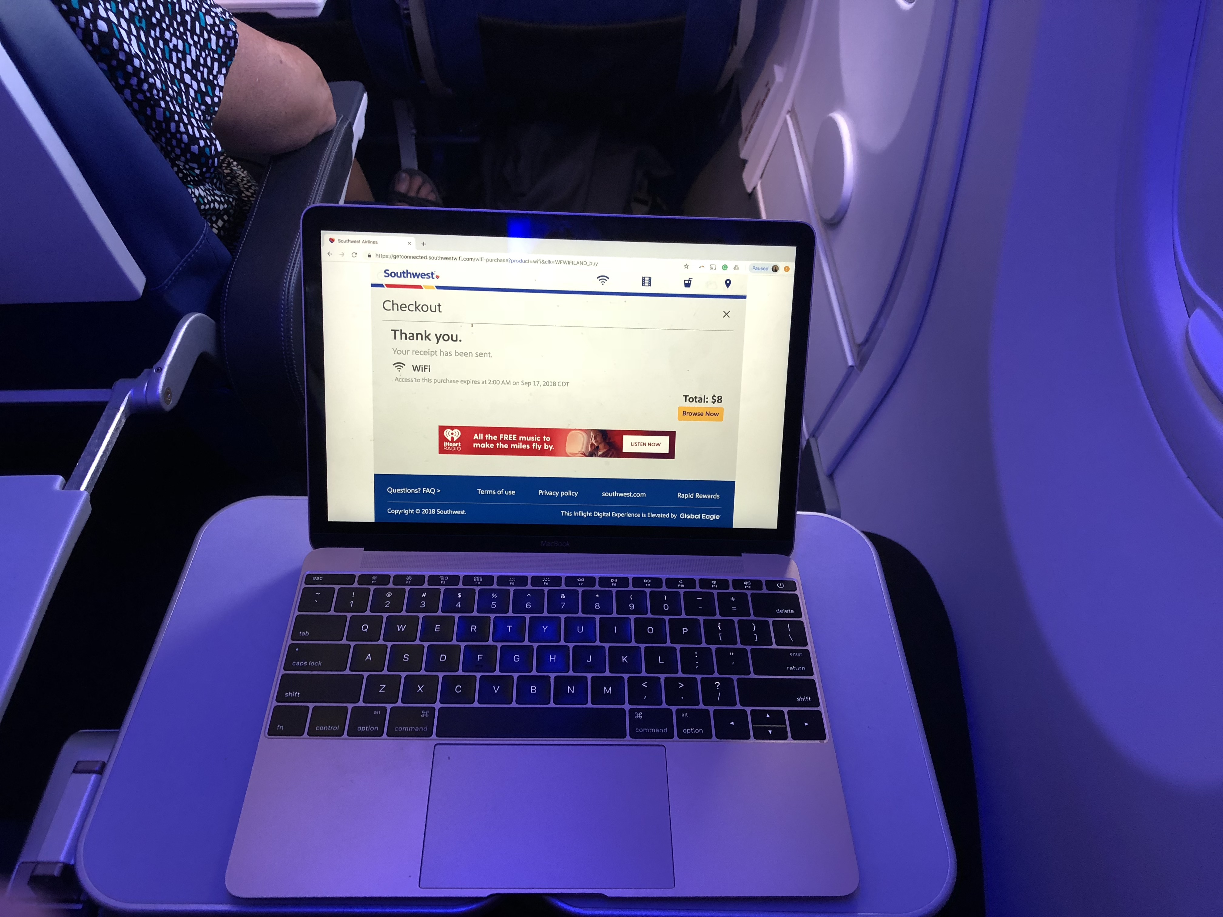 Southwest Airlines Boeing 737 MAX Wi-Fi