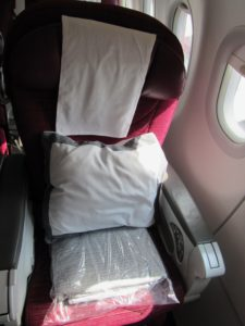 Qatar Airways A320 Business Class Seat