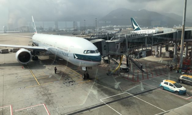 In 10 pics: Cathay Business Class Review 777-300ER Mumbai to Hong Kong (2019)