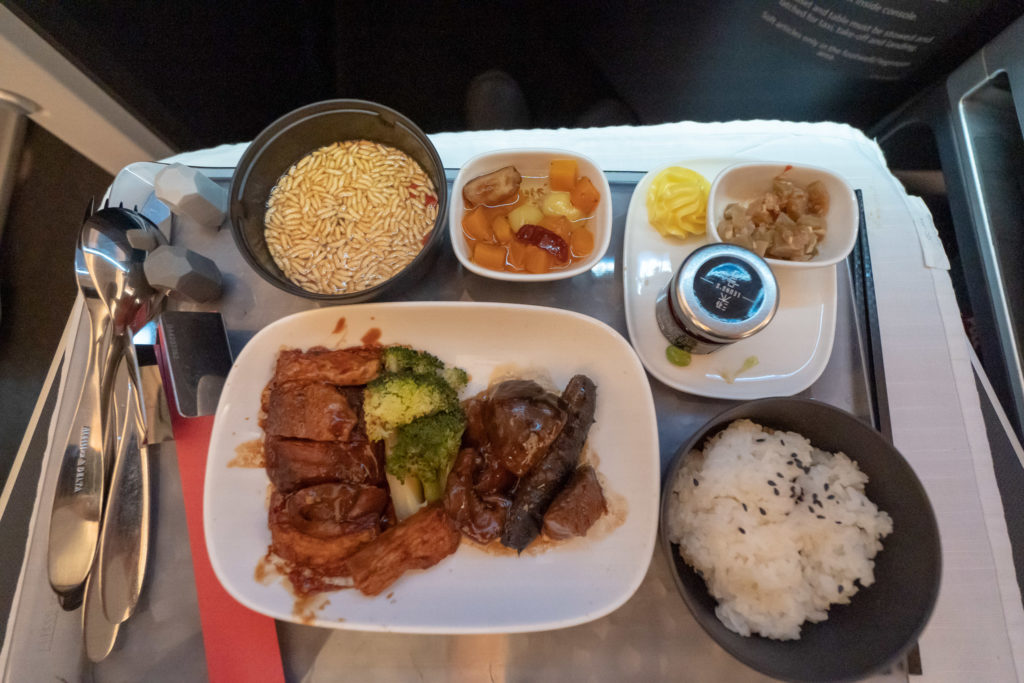 Delta Airlines A350 Dinner