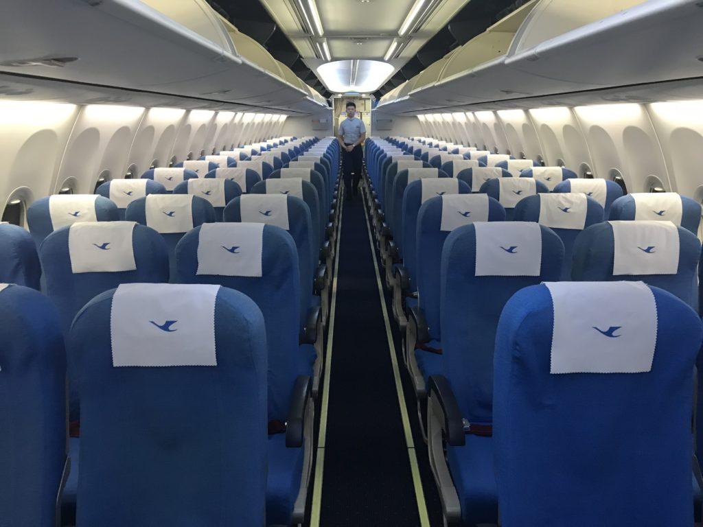 Xiamen Airlines 737 economy cabin