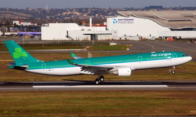 What was economy class like on an Aer Lingus A330 Dublin to New York in 2010?