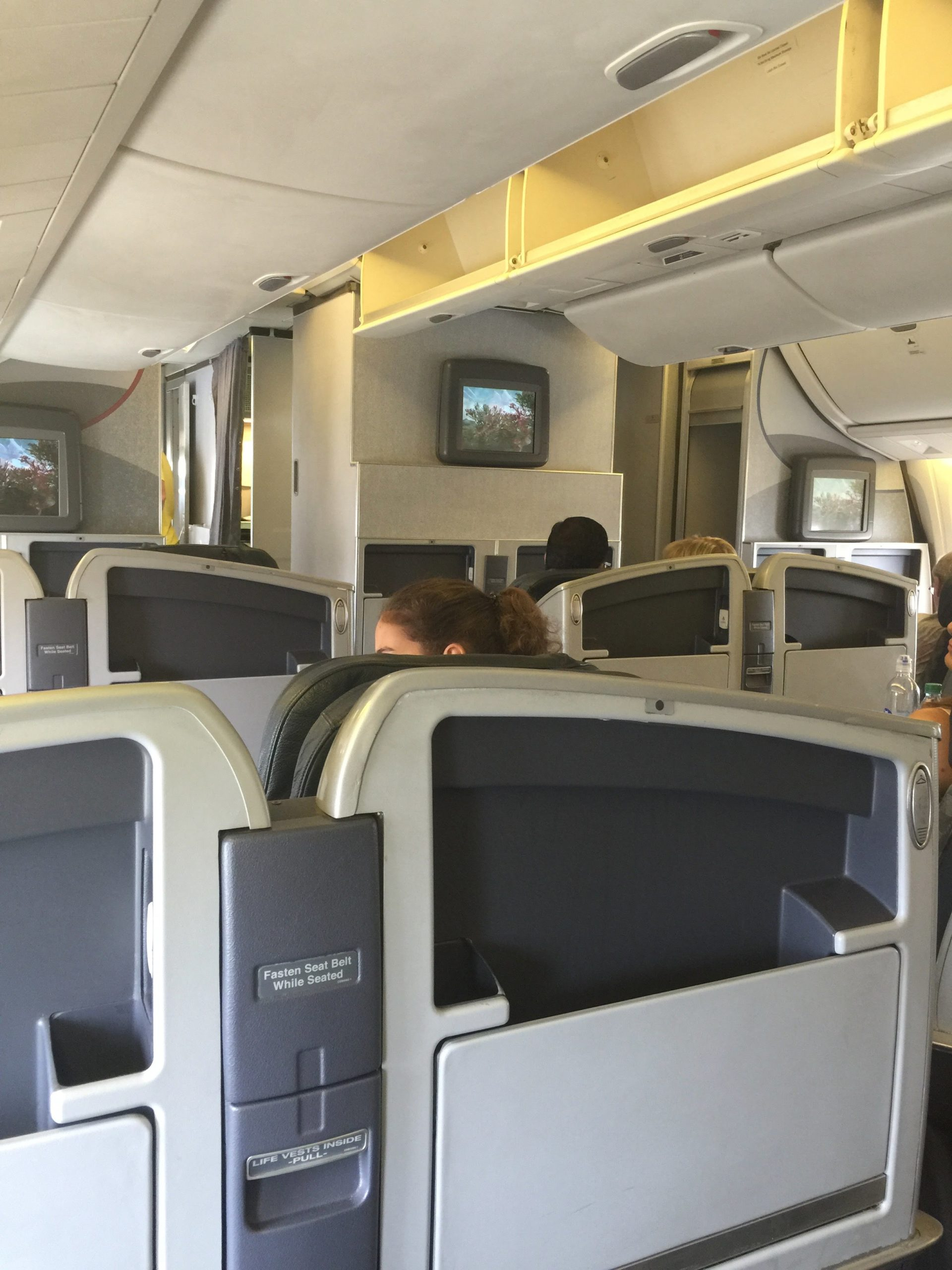 Old 767 Business Class Cabin