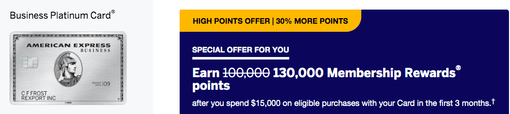 130,000 points offer! Amex Business Platinum Card Review