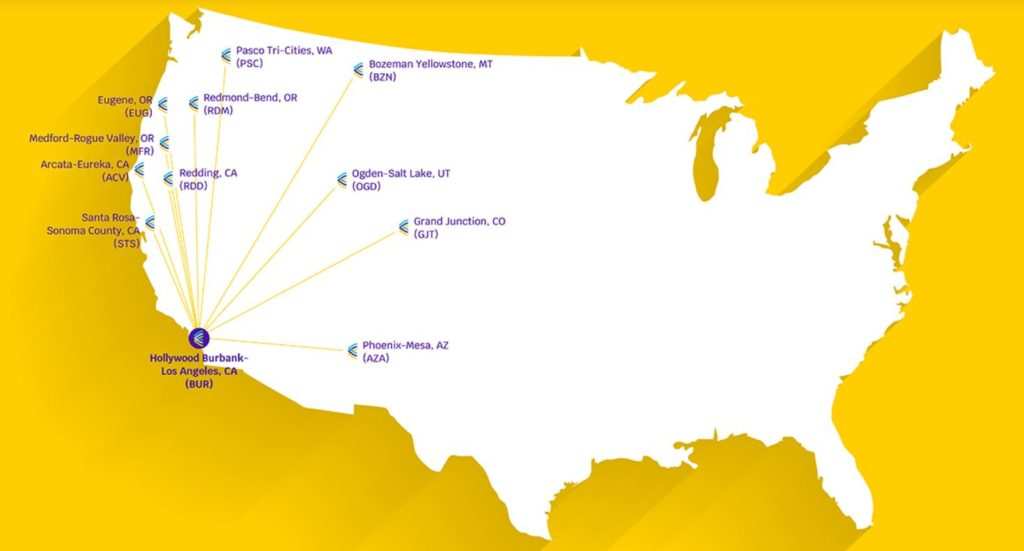 avelo airlines destinations route map
